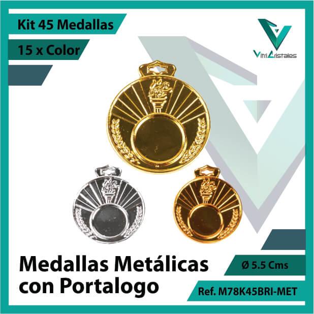 kit de medallas en oro plata y bronce metalicas con portalogo x 45 unidades ref m78k45bri-met