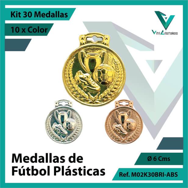 kit de medallas para niños de futbol plasticas x 30 unidades ref m02k30bri-abs