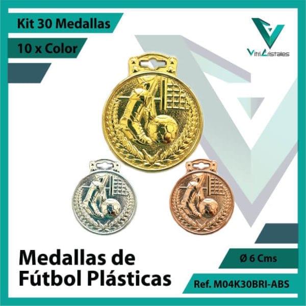 kit de medallas para niños de futbol plasticas x 30 unidades ref m04k30bri-abs
