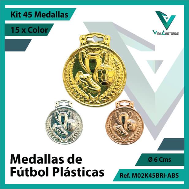 kit de medallas para niños de futbol plasticas x 45 unidades ref m02k45bri-abs