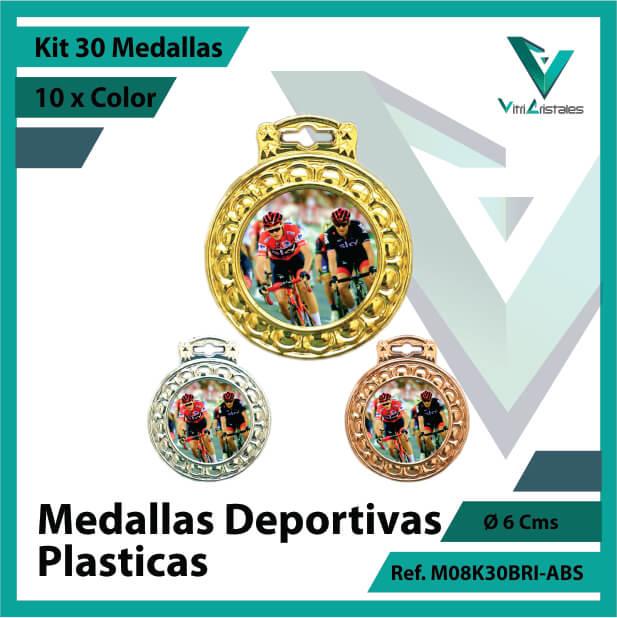 kit de medallas para niños deportivas plasticas x 30 unidades ref m08k30bri-abs
