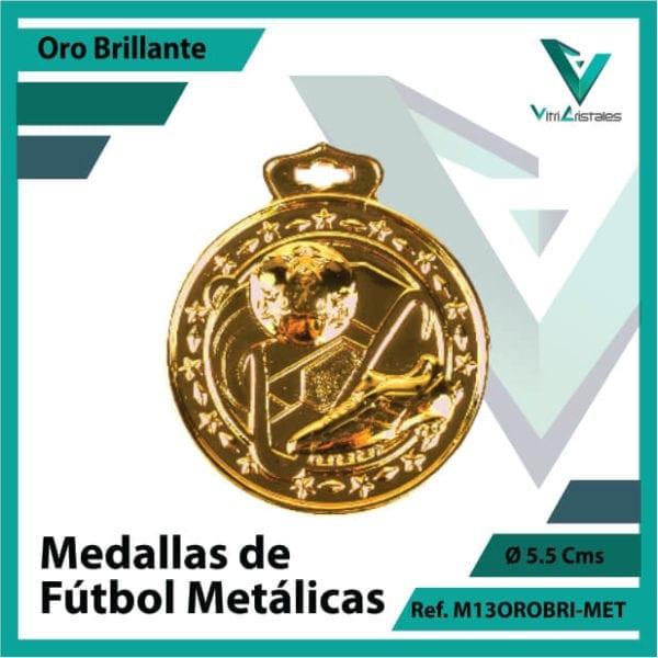medallas deportivas de futbol metalicas color oro brillante ref m13orobri-met