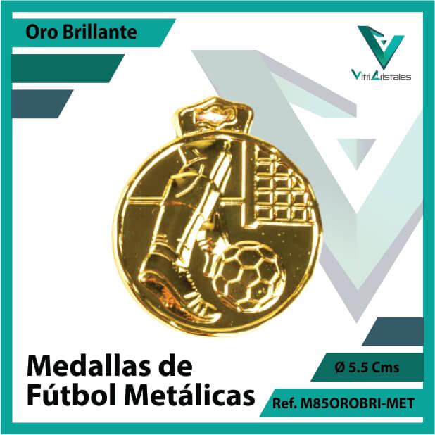 medallas deportivas de futbol metalicas color oro brillante ref m85orobri-met