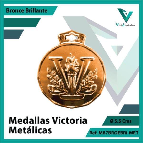 medallas deportivas victoria metalicas color bronce brillante ref m87brobri-met