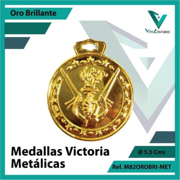medallas deportivas victoria metalicas color oro brillante ref m82orobri-met