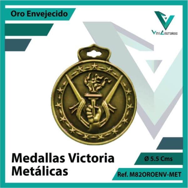 medallas deportivas victoria metalicas color oro envejecido ref m82oroenv-met
