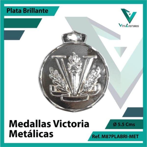 medallas deportivas victoria metalicas color plata brillante ref m87plabri-met