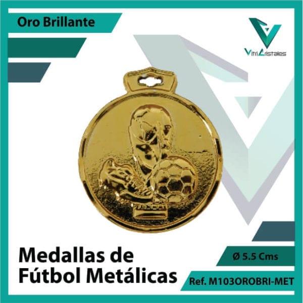 medallas en bogota de futbol metalicas color oro brillante ref m103orobri-met