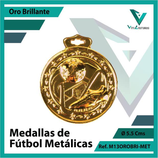 medallas en bogota de futbol metalicas color oro brillante ref m13orobri-met