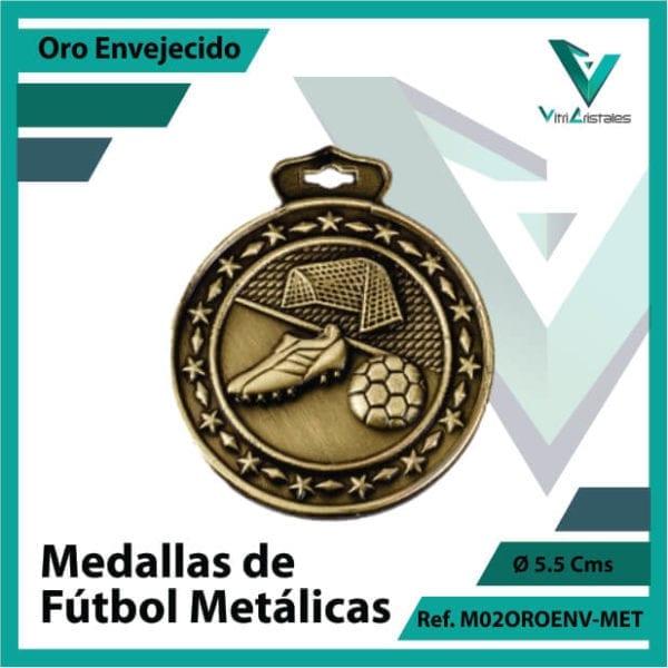 medallas en bogota de futbol metalicas color oro envejecido ref m02oroenv-met