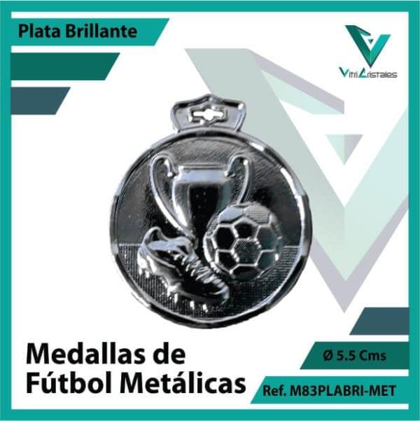 medallas en bogota de futbol metalicas color plata brillante ref m83plabri-met
