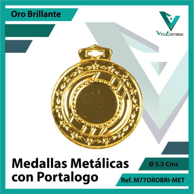 medallas en bogota metalicas con portalogo color oro brillante ref m77orobri-met