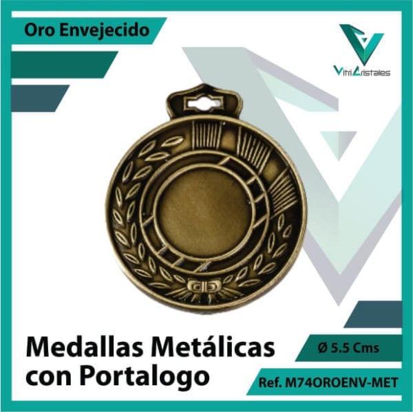 medallas en bogota metalicas con portalogo color oro envejecido ref m74oroenv-met