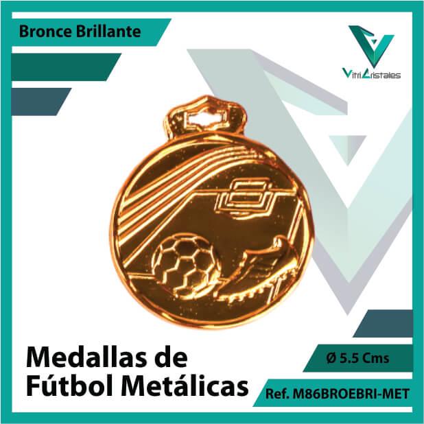 medallas en bronce de futbol metalicas ref m86brobri-met