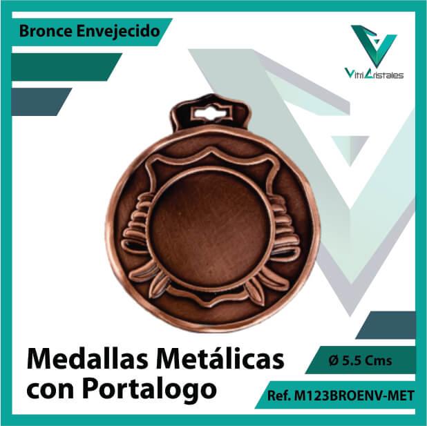 medallas en bronce metalicas con portalogo ref m123broenv-met