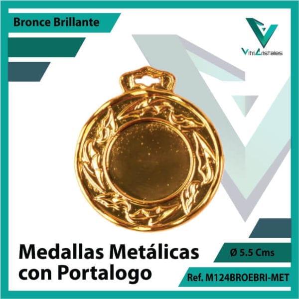 medallas en bronce metalicas con portalogo ref m124brobri-met