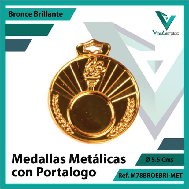 medallas en bronce metalicas con portalogo ref m78brobri-met