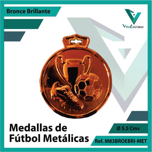 medallas en cali de futbol metalicas color bronce brillante ref m83brobri-met
