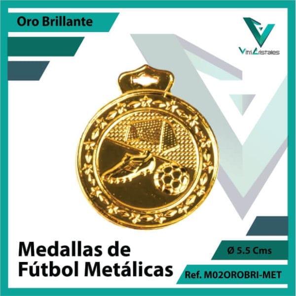 medallas en cali de futbol metalicas color oro brillante ref m02orobri-met