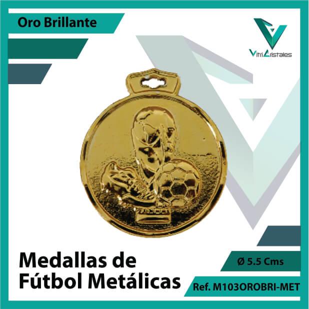 medallas en cali de futbol metalicas color oro brillante ref m103orobri-met