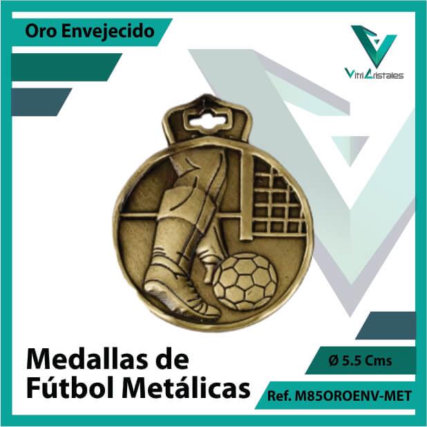 medallas en cali de futbol metalicas color oro envejecido ref m85oroenv-met