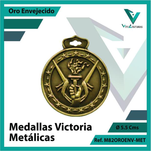 medallas en cali victoria metalicas color oro envejecido ref m82oroenv-met