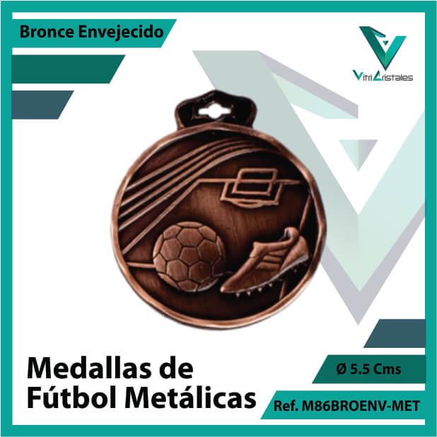 medallas en medellin de futbol metalicas color bronce envejecido ref m86broenv-met