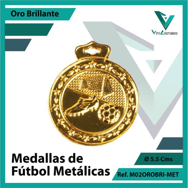 medallas en medellin de futbol metalicas color oro brillante ref m02orobri-met