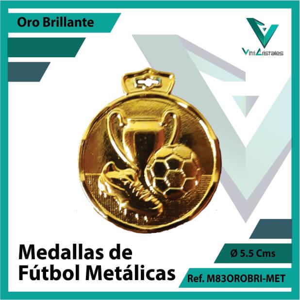 medallas en medellin de futbol metalicas color oro brillante ref m83orobri-met