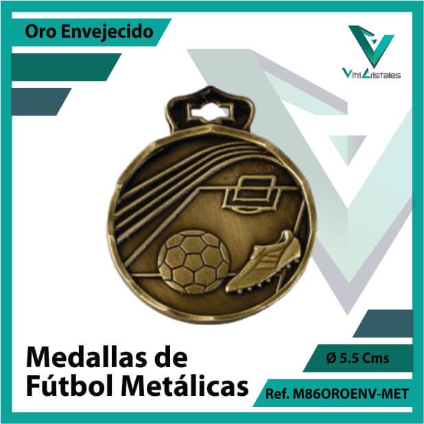 medallas en medellin de futbol metalicas color oro envejecido ref m86oroenv-met