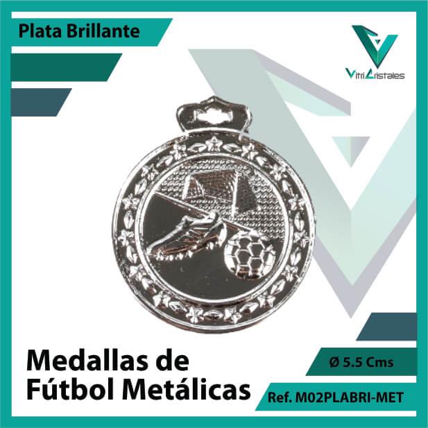 medallas en medellin de futbol metalicas color plata brillante ref m02plabri-met
