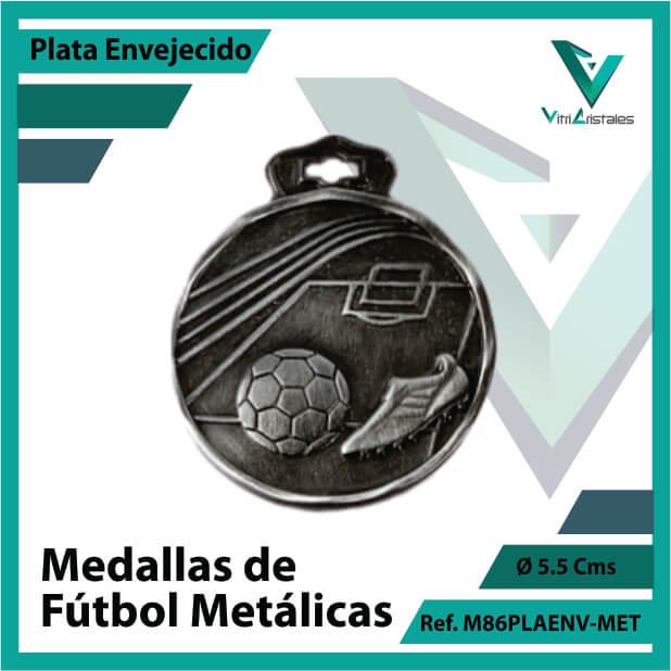 medallas en medellin de futbol metalicas color plata envejecido ref m86plaenv-met