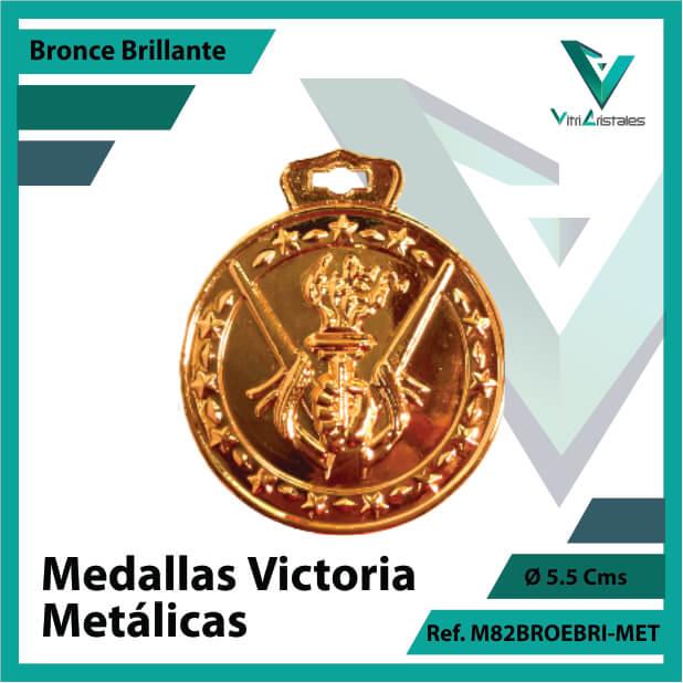 medallas en medellin victoria metalicas color bronce brillante ref m82brobri-met