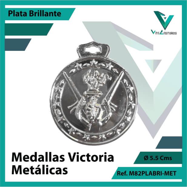 medallas en medellin victoria metalicas color plata brillante ref m82plabri-met