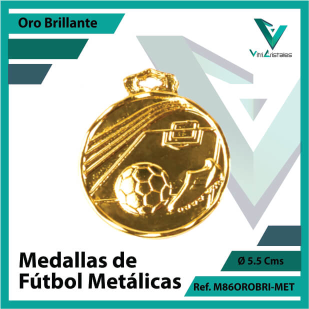 medallas en oro de futbol metalicas ref m86orobri-met