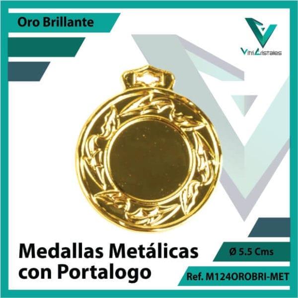 medallas en oro metalicas con portalogo ref m124orobri-met