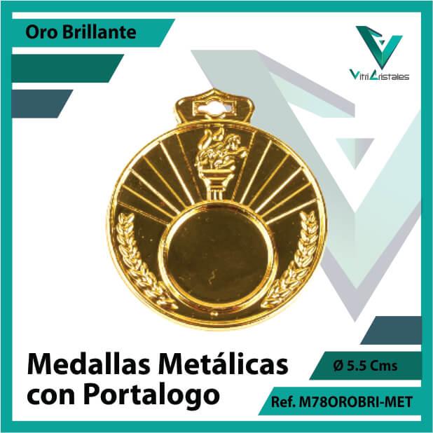 medallas en oro metalicas con portalogo ref m78orobri-met