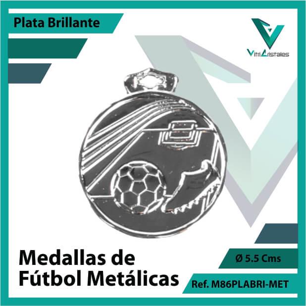 medallas en plata de futbol metalicas ref m86plabri-met