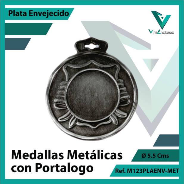 medallas en plata metalicas con portalogo ref m123plaenv-met