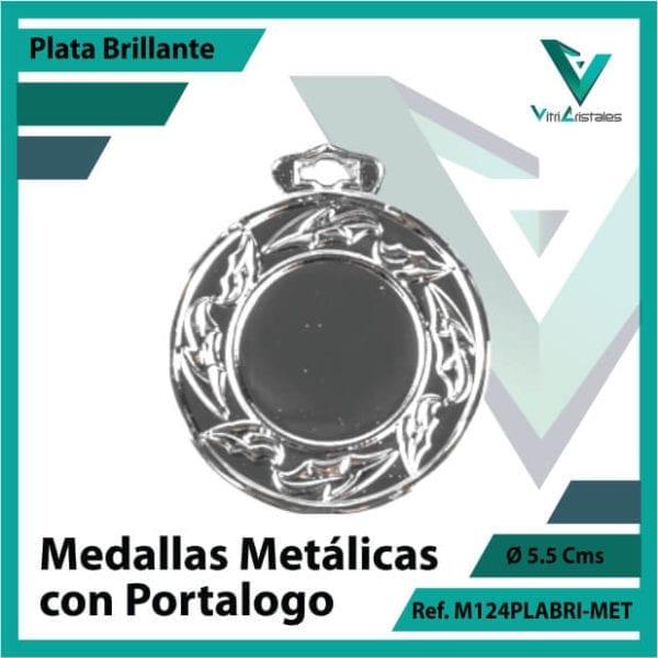 medallas en plata metalicas con portalogo ref m124plabri-met