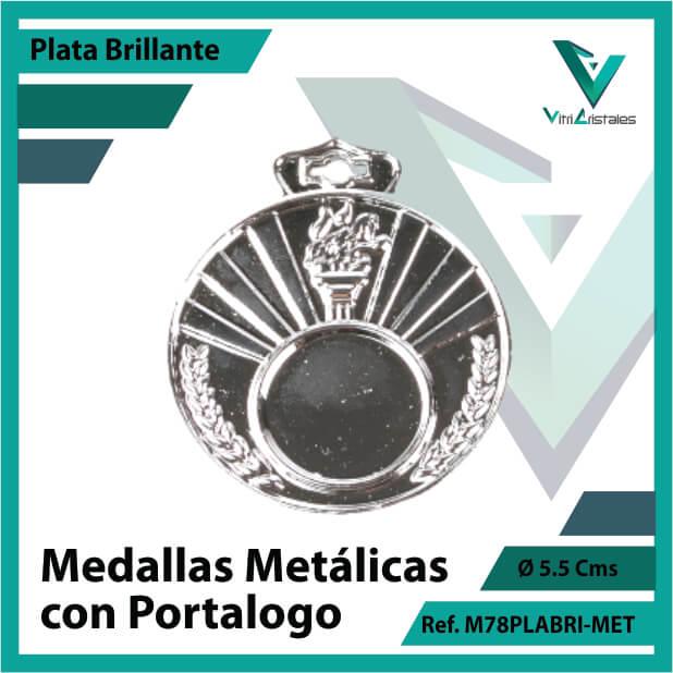 medallas en plata metalicas con portalogo ref m78plabri-met