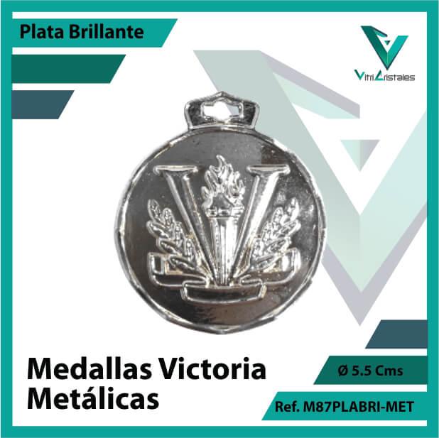 medallas en plata victoria metalicas ref m87plabri-met