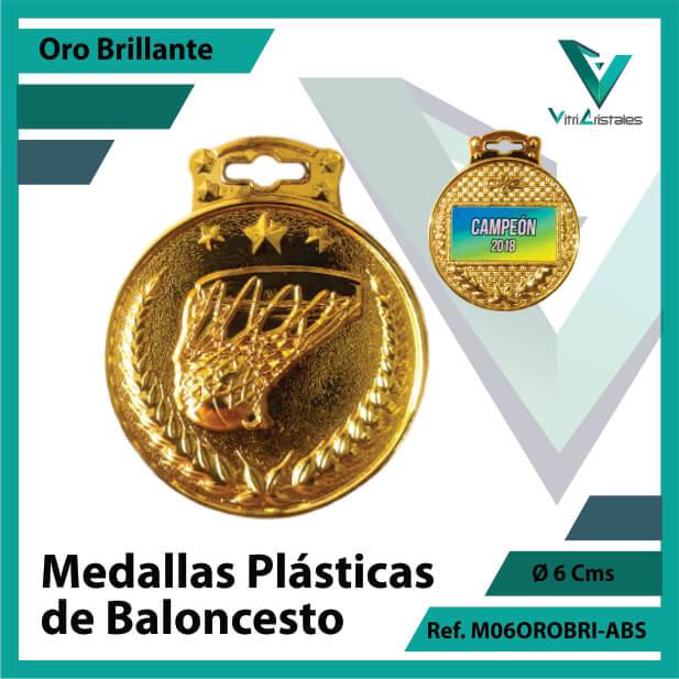 medallas para niños de baloncesto plasticas oro brillante ref m06orobri-abs