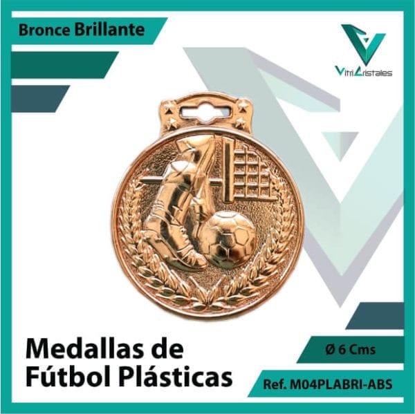medallas para niños de futbol plasticas bronce brillante ref m04brobri-abs