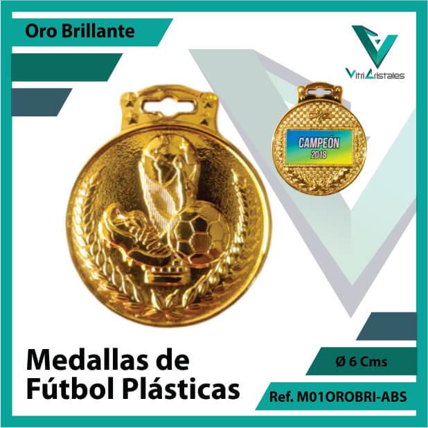medallas para niños de futbol plasticas oro brillante ref m01orobri-abs