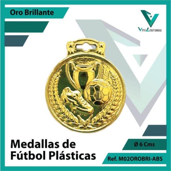 medallas para niños de futbol plasticas oro brillante ref m02orobri-abs