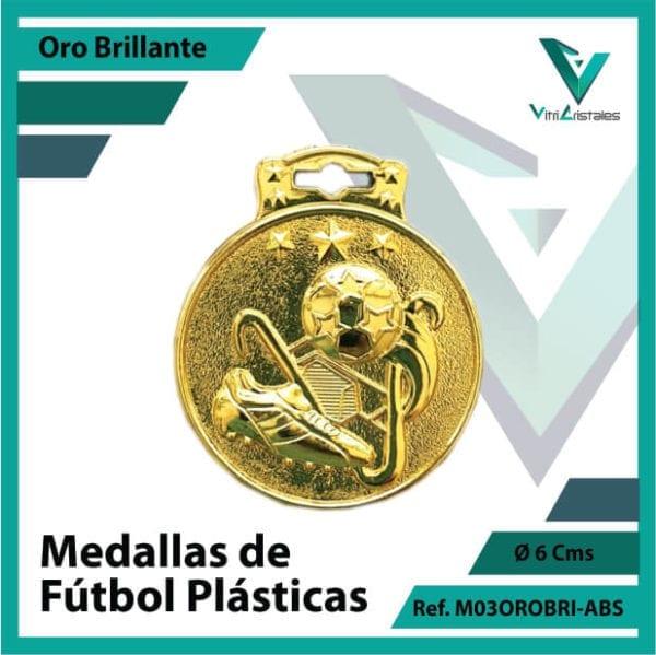 medallas para niños de futbol plasticas oro brillante ref m03orobri-abs