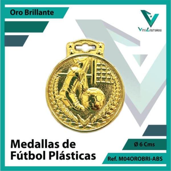 medallas para niños de futbol plasticas oro brillante ref m04orobri-abs