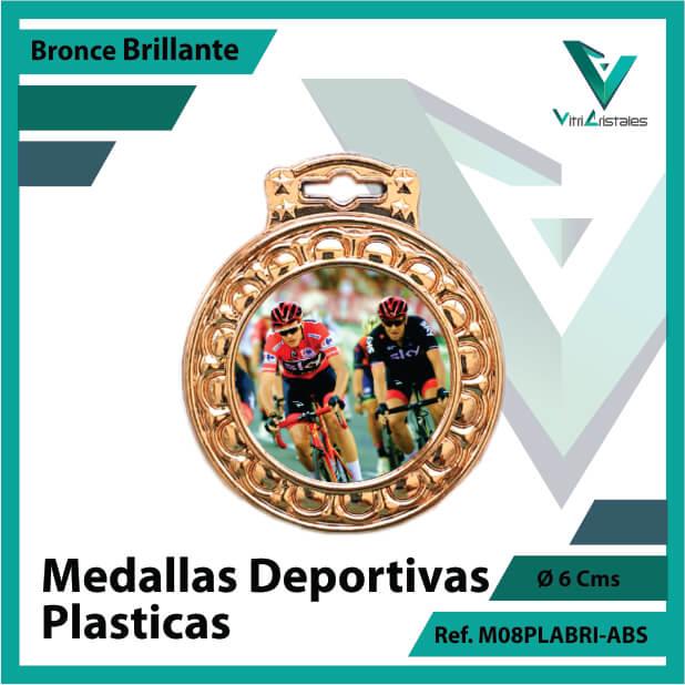 medallas para niños deportivas plasticas bronce brillante ref m08brobri-abs