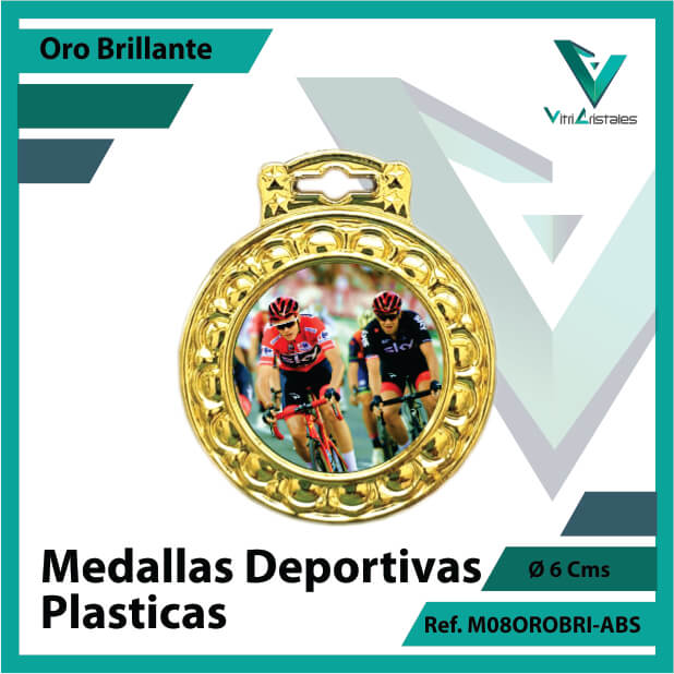 medallas para niños deportivas plasticas oro brillante ref m08orobri-abs